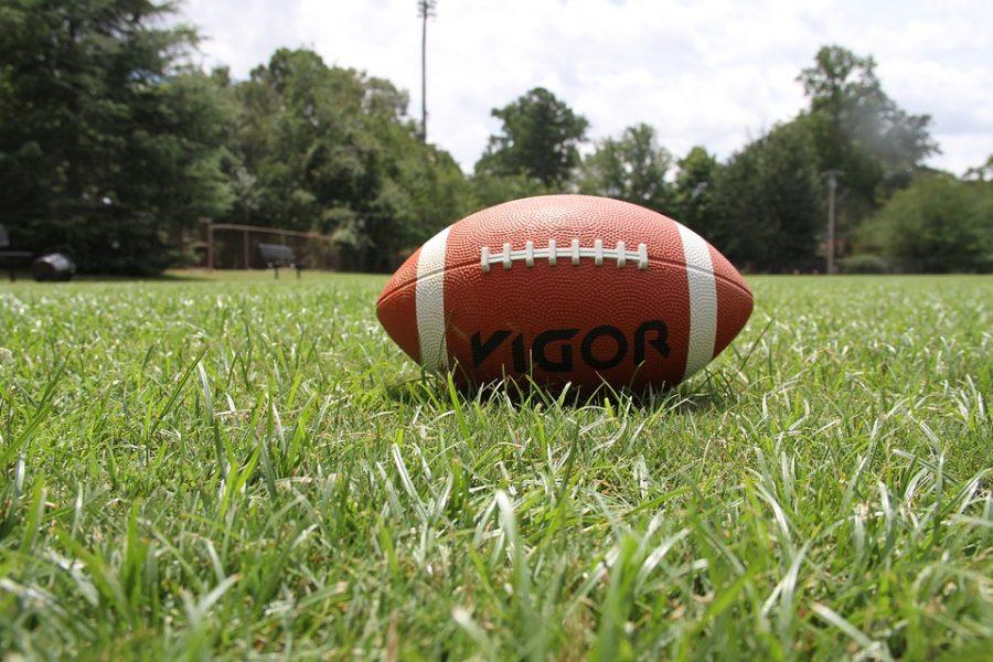 Football Ball American Football Grass Sports